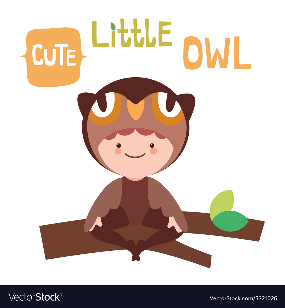 Cute little owl baby vector | Price: 1 Credit (USD $1)