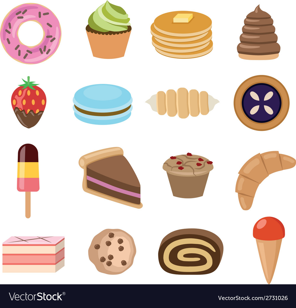 Desserts collection vector | Price: 1 Credit (USD $1)
