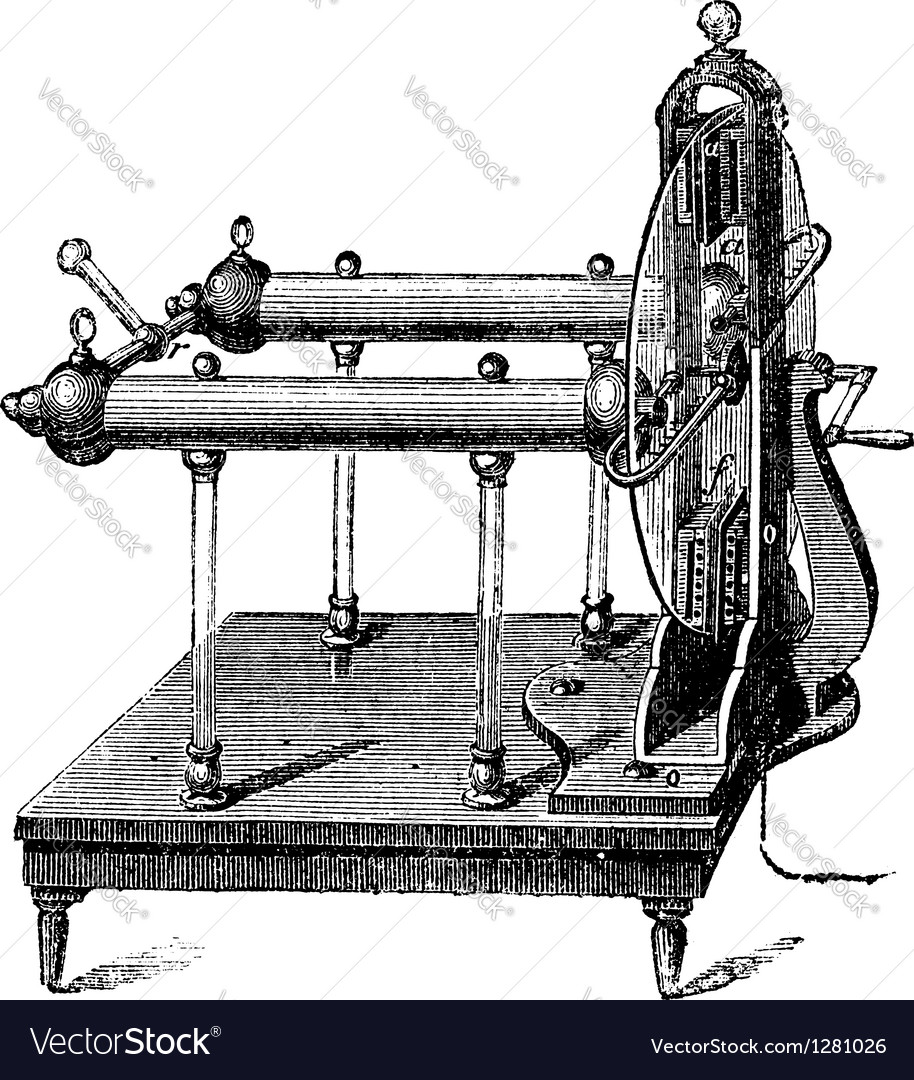 Electrostatic generator vintage engraving vector | Price: 1 Credit (USD $1)