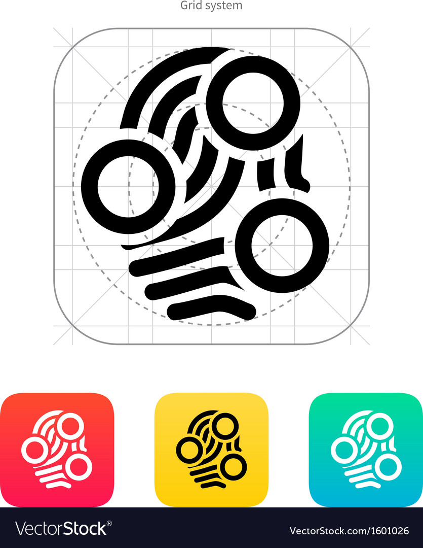 Fingerprint loop type scan icon vector | Price: 1 Credit (USD $1)