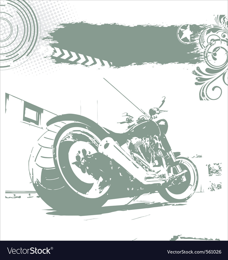 Grunge motorbike background vector | Price: 1 Credit (USD $1)