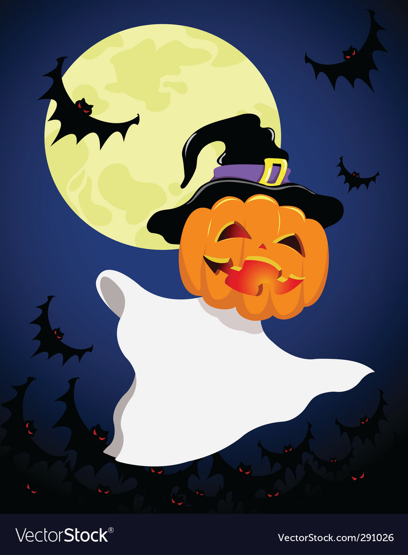 Halloween spirit vector | Price: 1 Credit (USD $1)