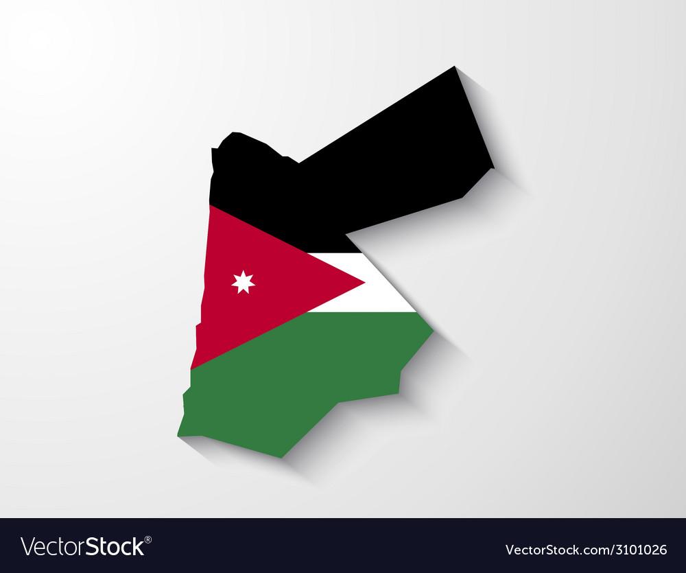 Jordan country map with shadow effect presentatio vector   Price: 1 Credit (USD $1)
