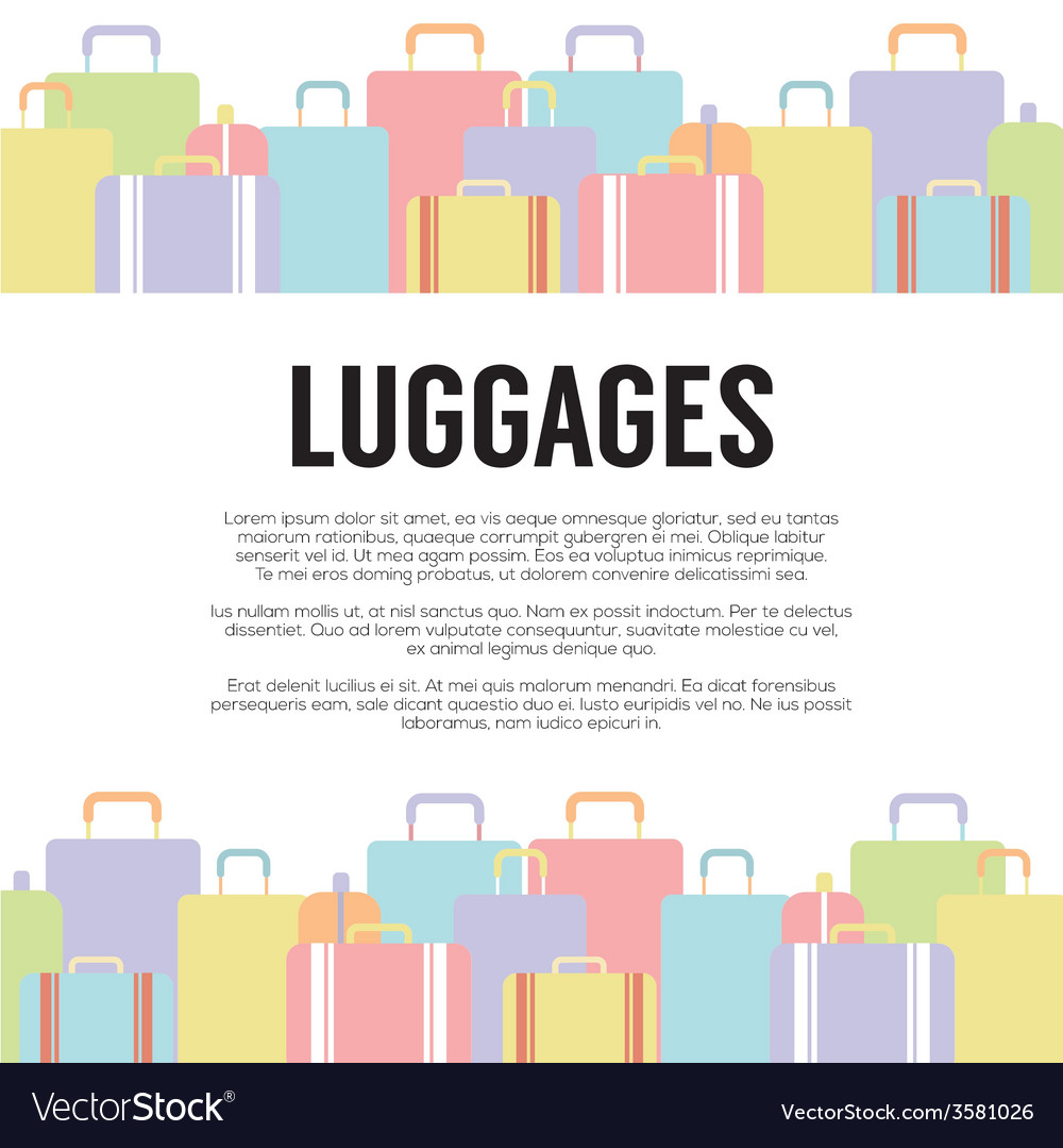 Many luggages travel concept vector | Price: 1 Credit (USD $1)