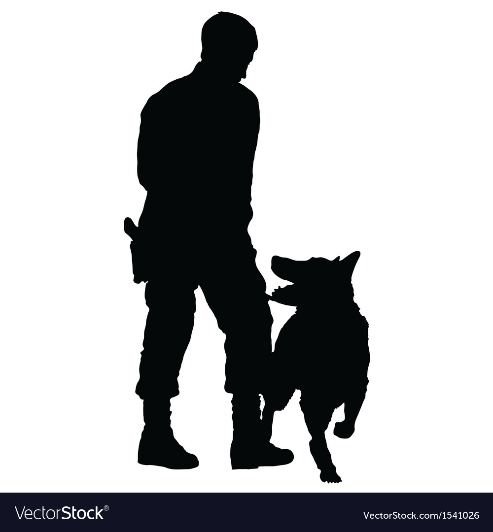 Police dog vector | Price: 1 Credit (USD $1)