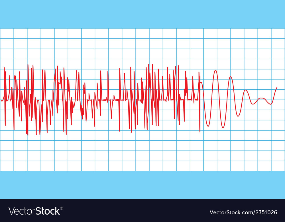 Seismograph vector | Price: 1 Credit (USD $1)