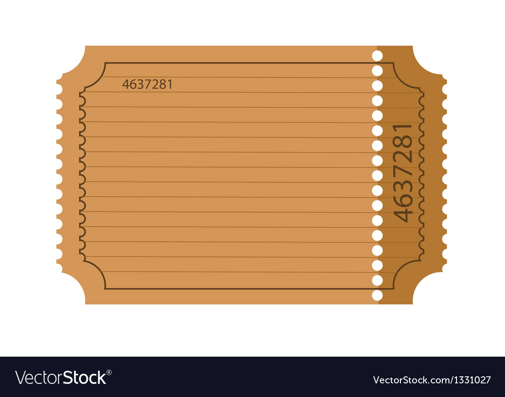 Blank ticket vector | Price: 1 Credit (USD $1)