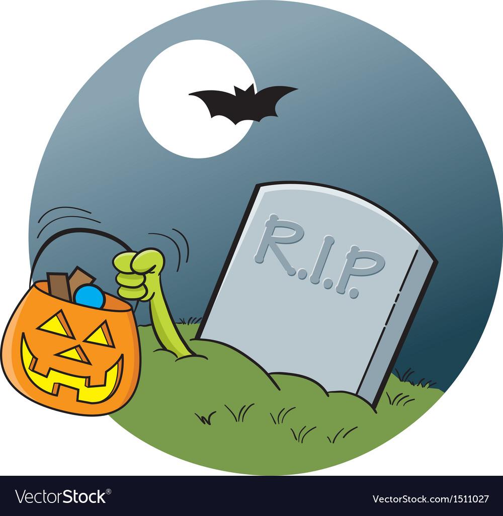 Cartoon cemetery gravestone vector | Price: 1 Credit (USD $1)