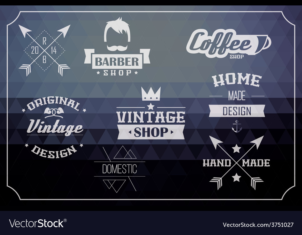 Collection of vintage retro labels and badges vector | Price: 1 Credit (USD $1)