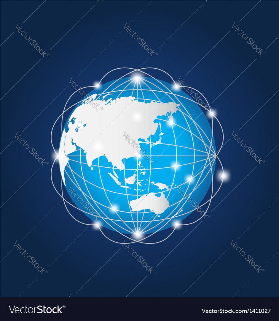Global network asia vector | Price: 1 Credit (USD $1)