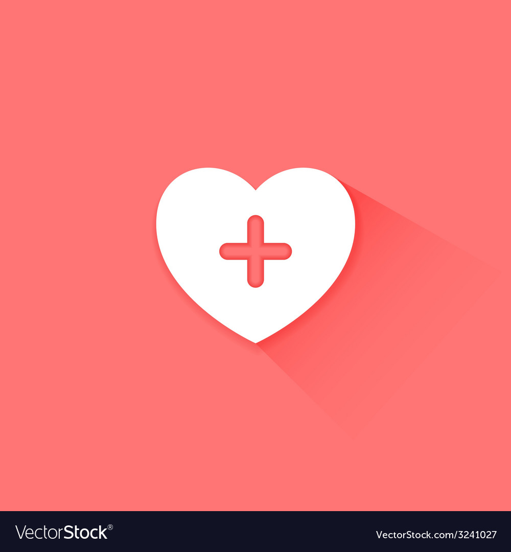 Heart health care red icon vector | Price: 1 Credit (USD $1)