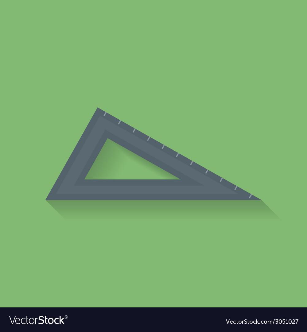 Icon of triangle ruler flat style vector | Price: 1 Credit (USD $1)
