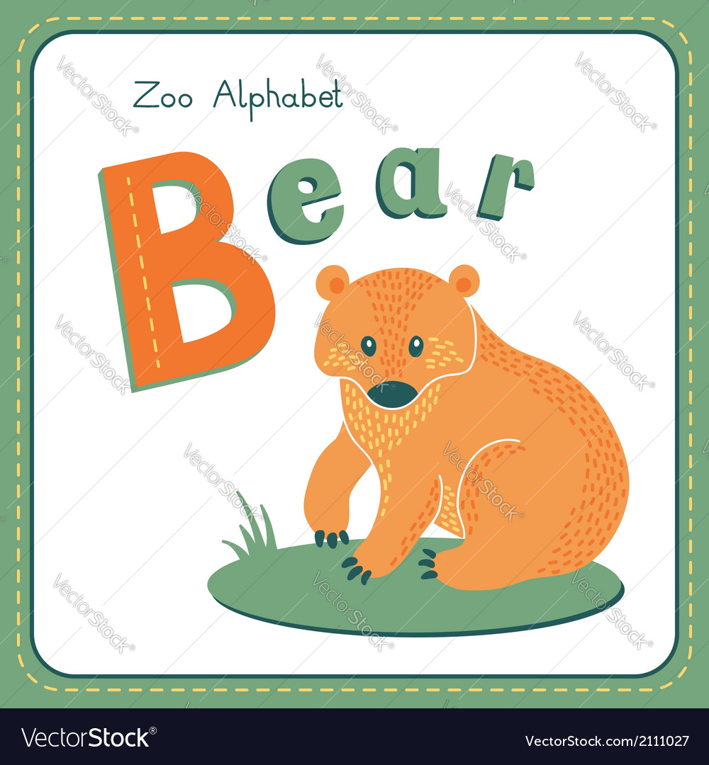 Letter b - bear vector | Price: 1 Credit (USD $1)