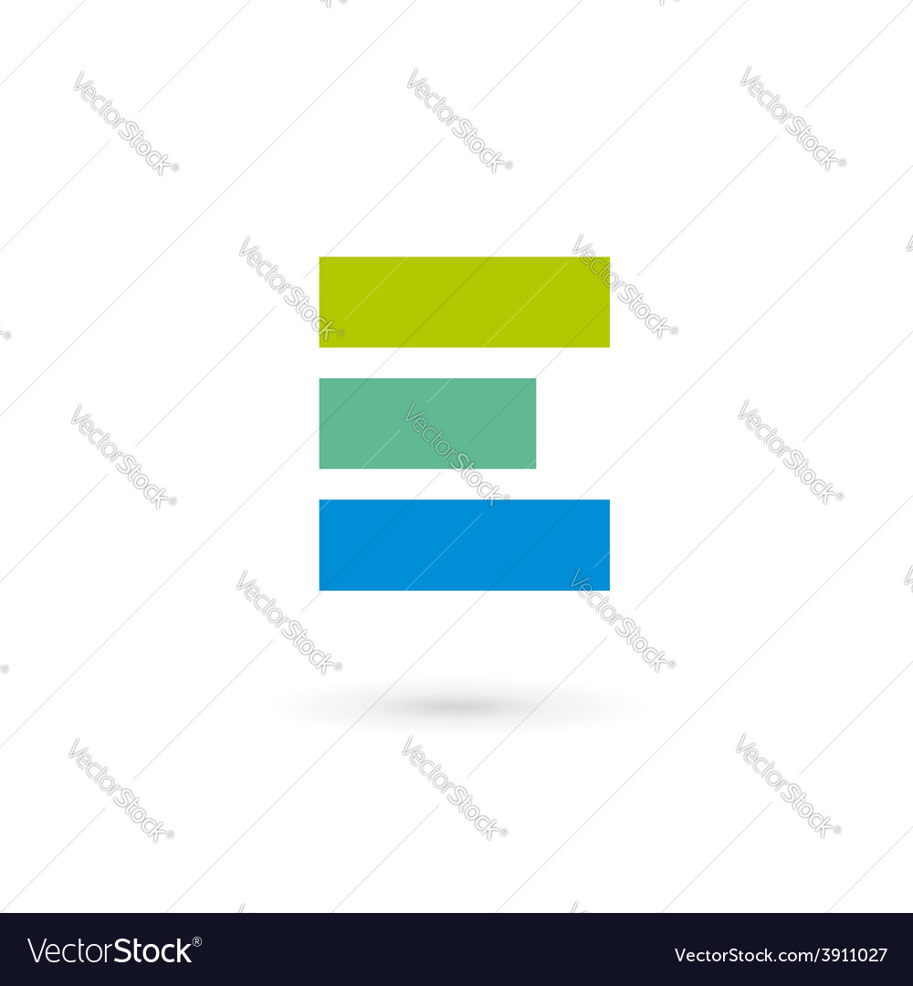 Letter e logo icon design template elements vector | Price: 1 Credit (USD $1)