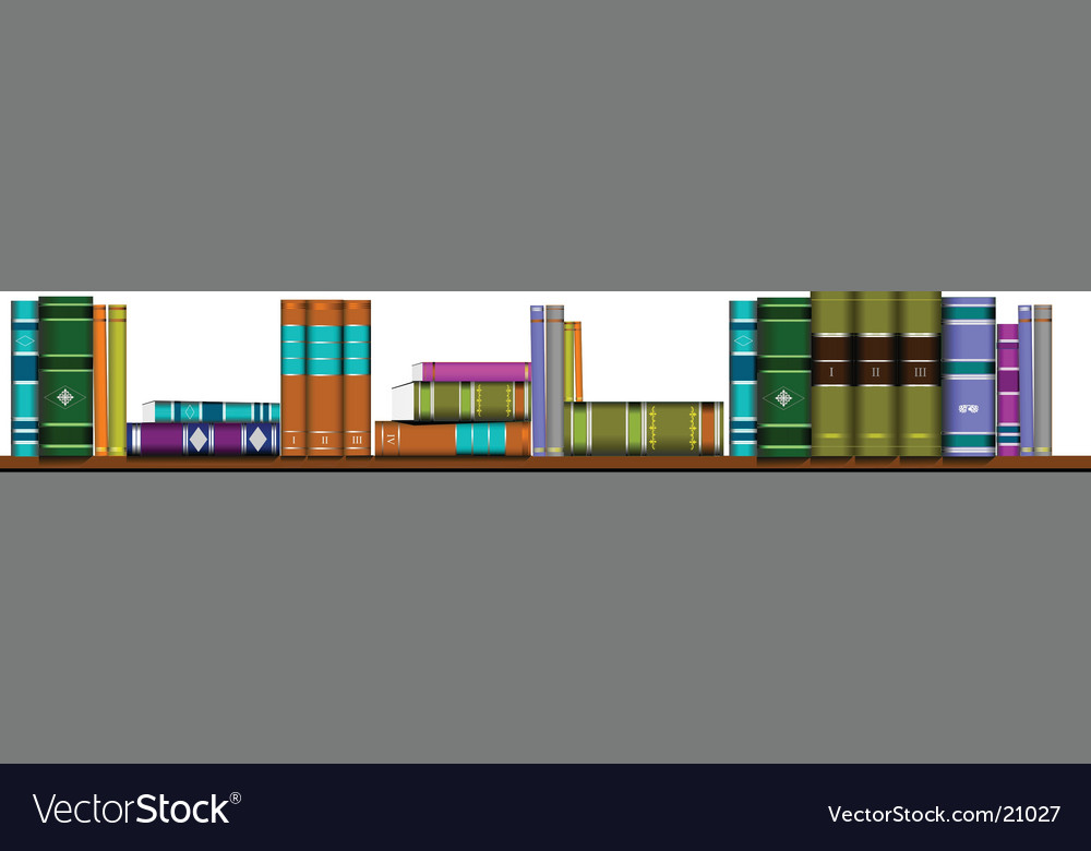 Library shelf book vector | Price: 1 Credit (USD $1)