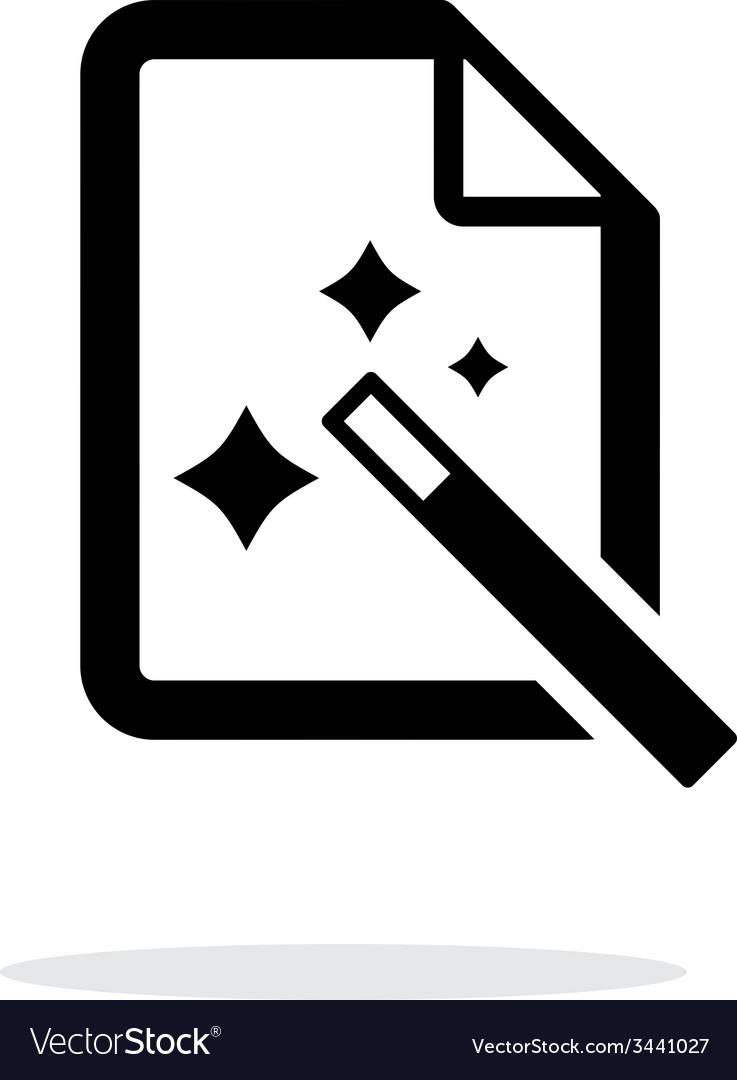 Magic file icon vector   Price: 1 Credit (USD $1)