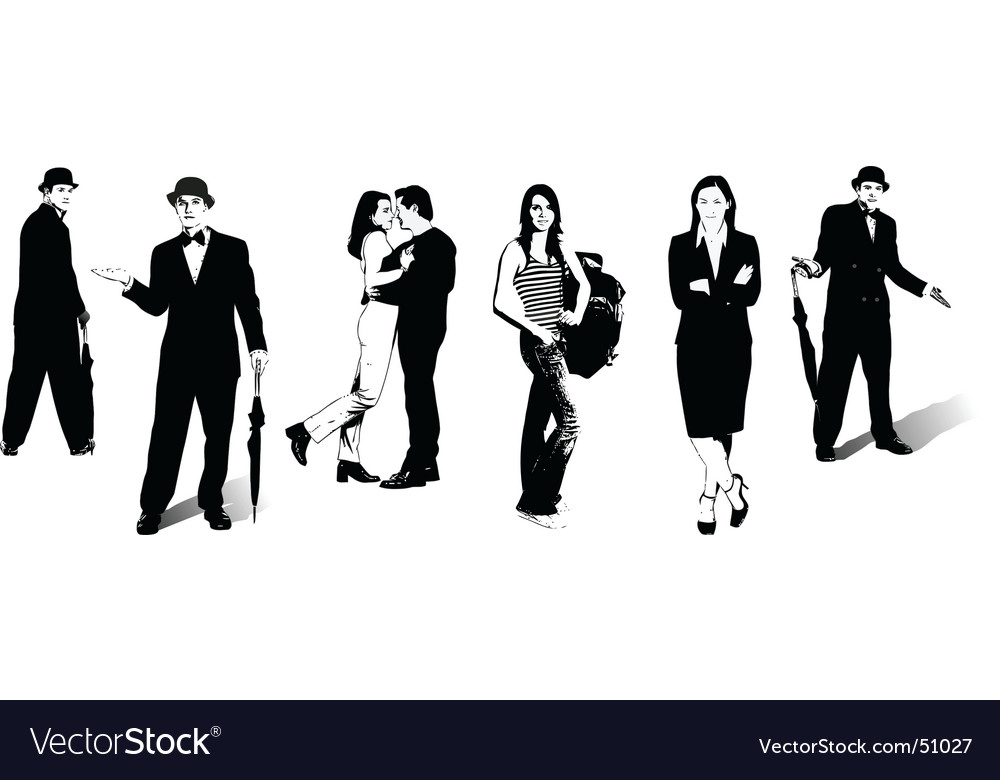 Men and women vector | Price: 1 Credit (USD $1)