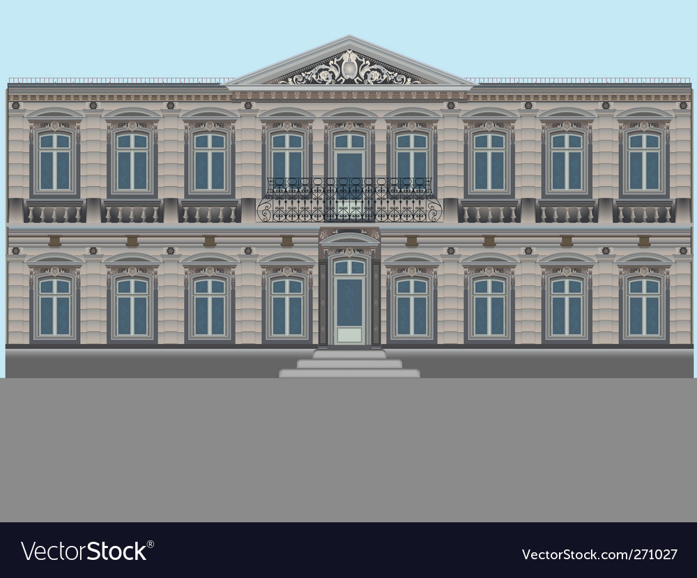 Old palace vector | Price: 1 Credit (USD $1)