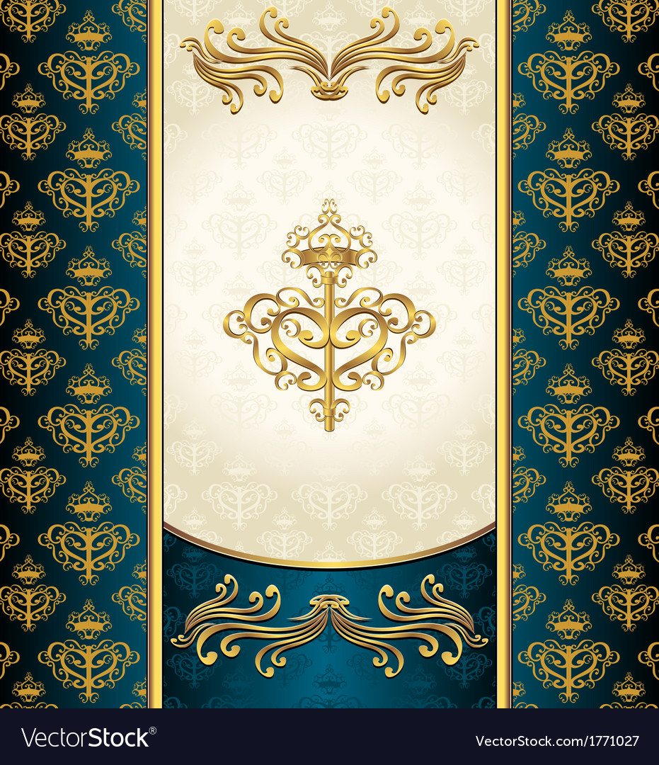 Royal victorian background with seamless pattern vector | Price: 1 Credit (USD $1)