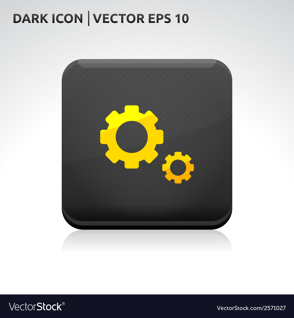 Settings icon gold vector | Price: 1 Credit (USD $1)