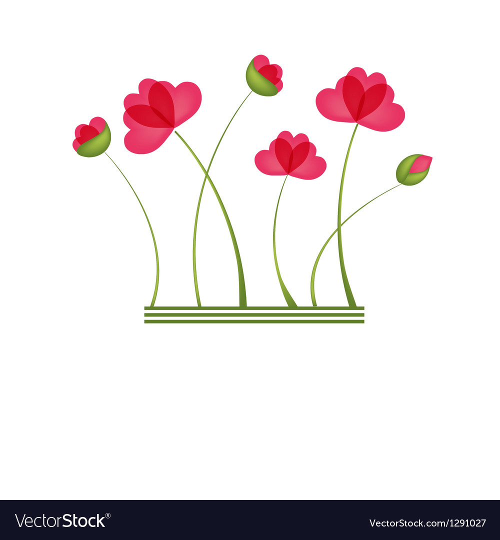 Spring card with beauty poppies vector | Price: 1 Credit (USD $1)