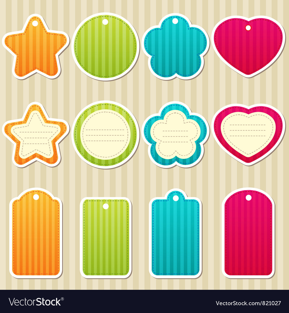 Tags and frames vector | Price: 1 Credit (USD $1)