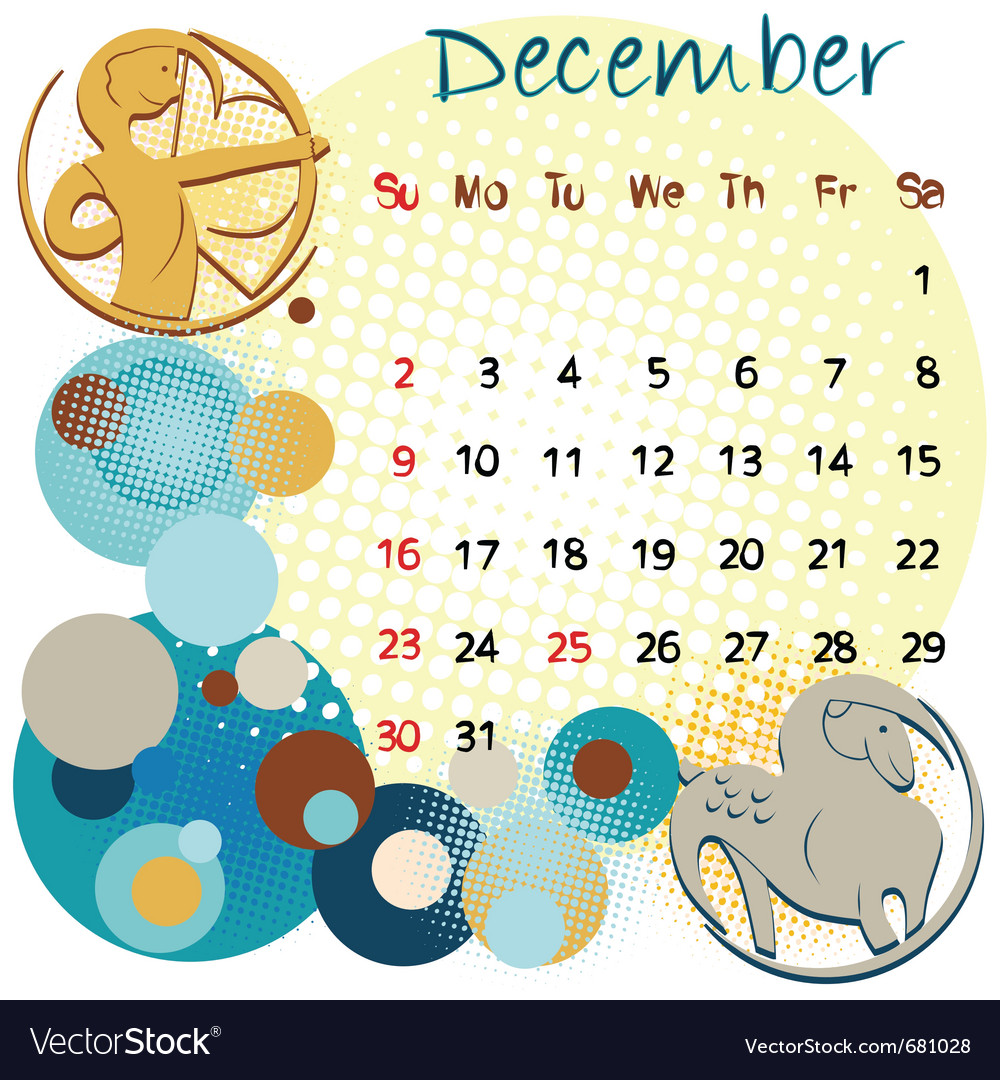 2012 calendar december vector | Price: 1 Credit (USD $1)