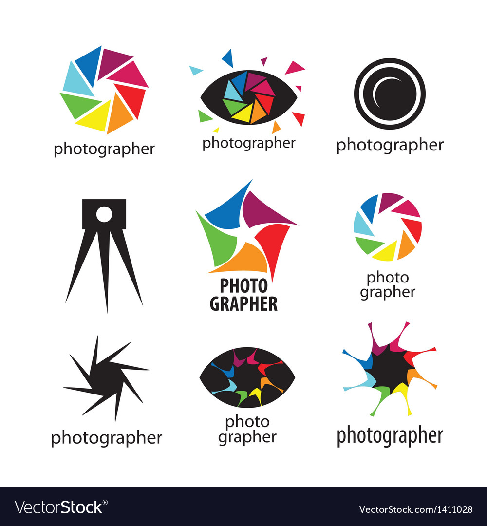 Collection of logos for photographers and photo vector | Price: 1 Credit (USD $1)