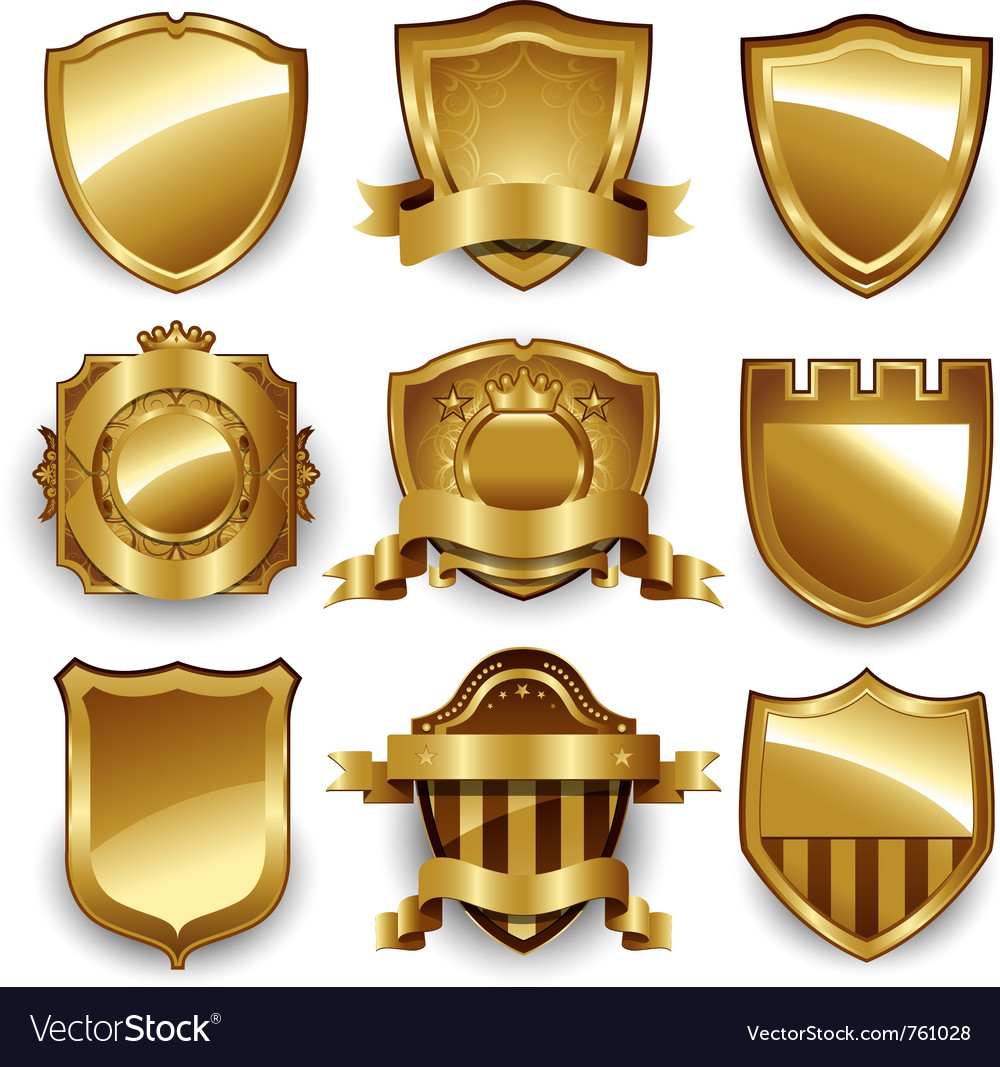 Decorative ornate gold frame label vector | Price: 1 Credit (USD $1)