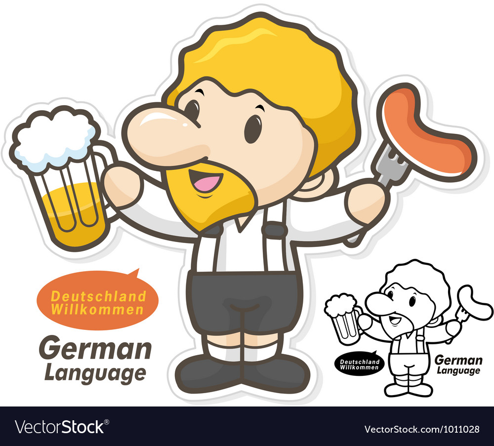 The department of german language and literature vector | Price: 3 Credit (USD $3)