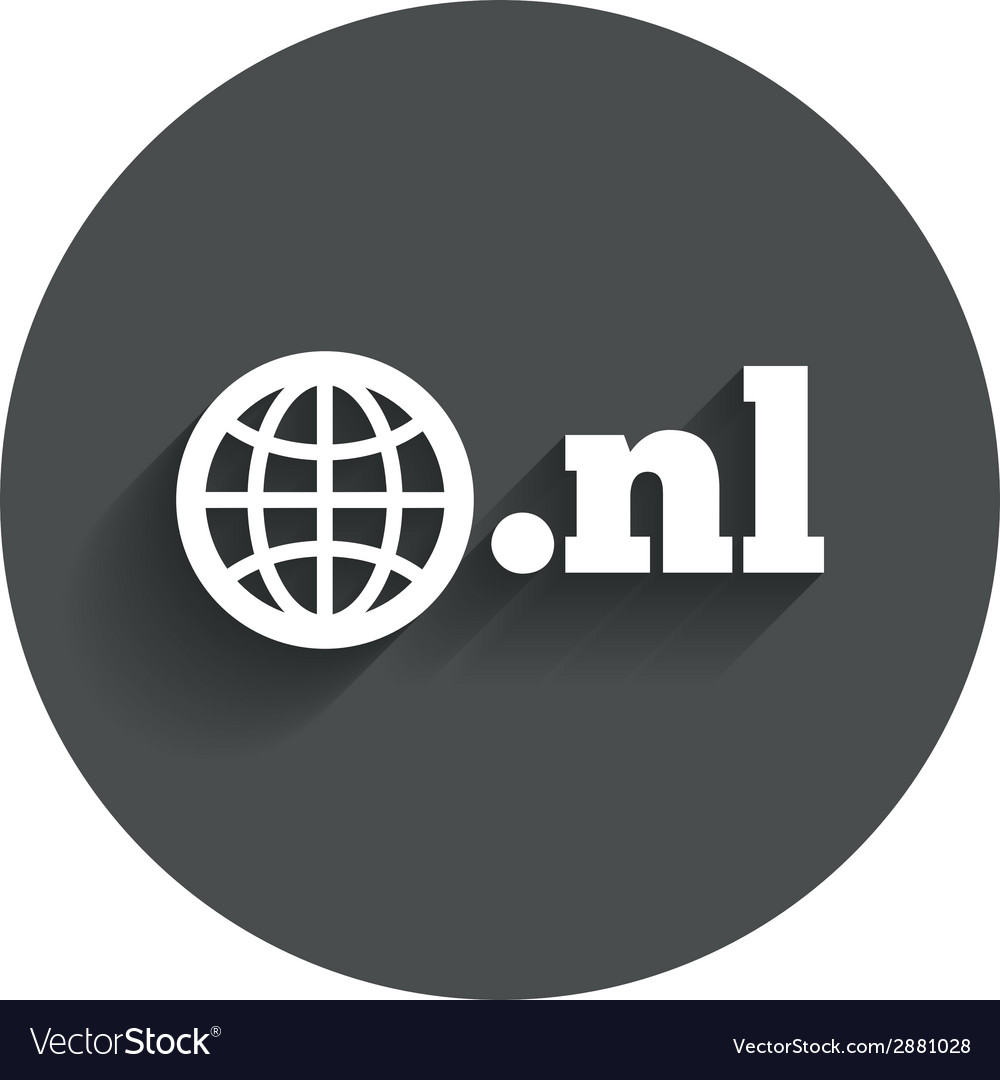 Domain nl sign icon top-level internet domain vector   Price: 1 Credit (USD $1)