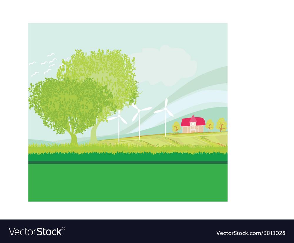 Eco farming - landscapes vector | Price: 1 Credit (USD $1)