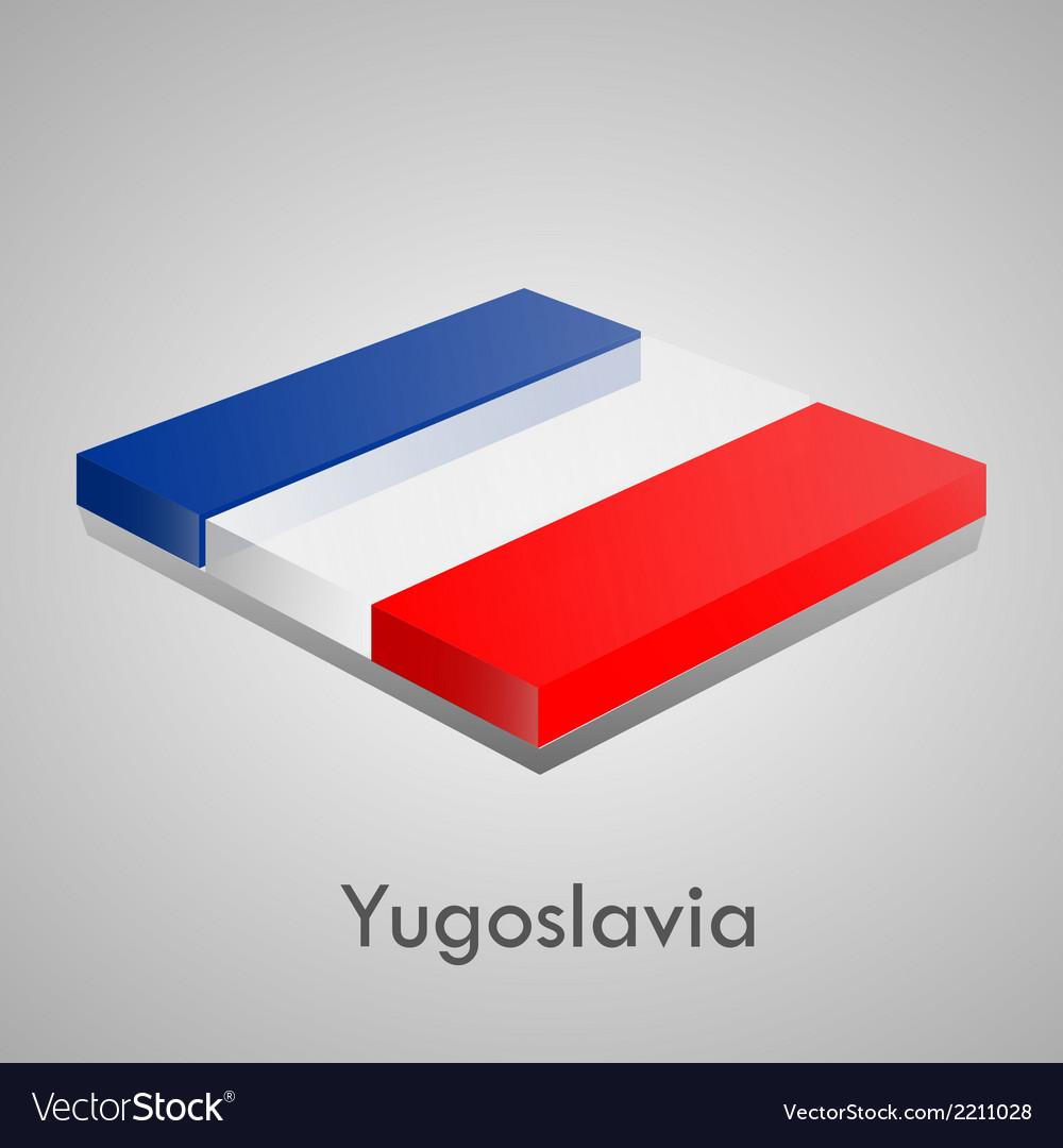 European flags set - yugoslavia vector | Price: 1 Credit (USD $1)