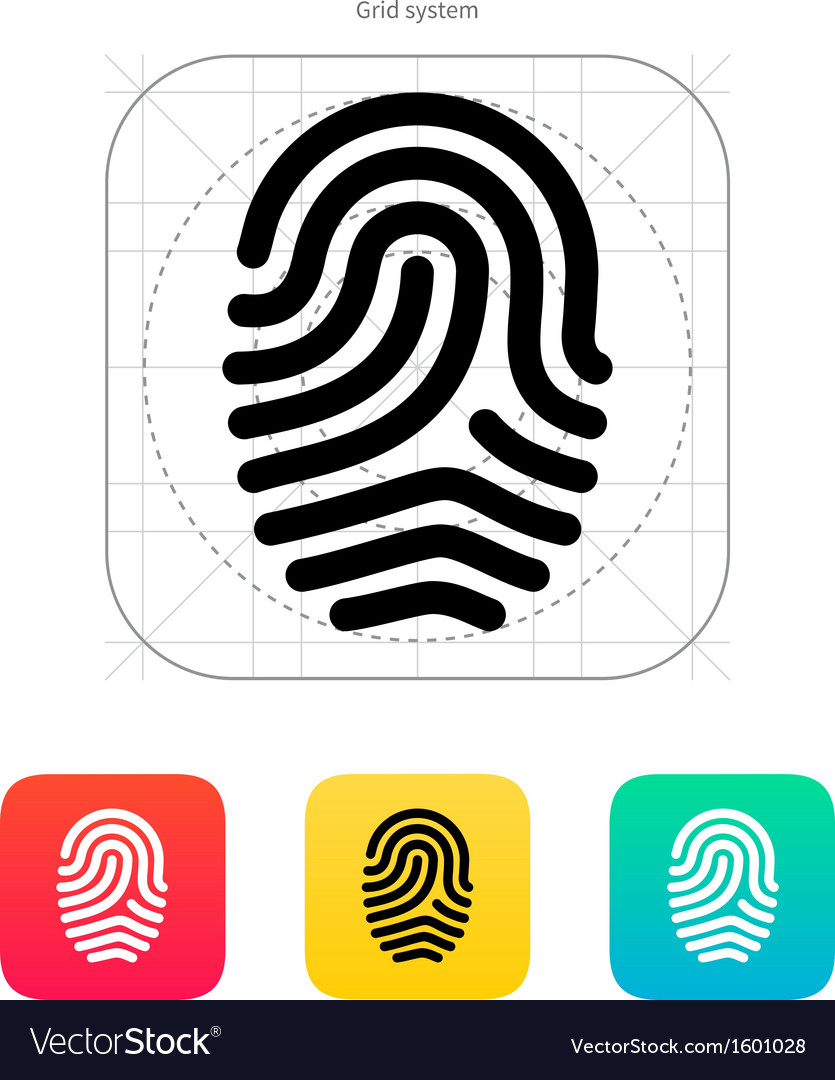 Fingerprint loop type icon vector | Price: 1 Credit (USD $1)