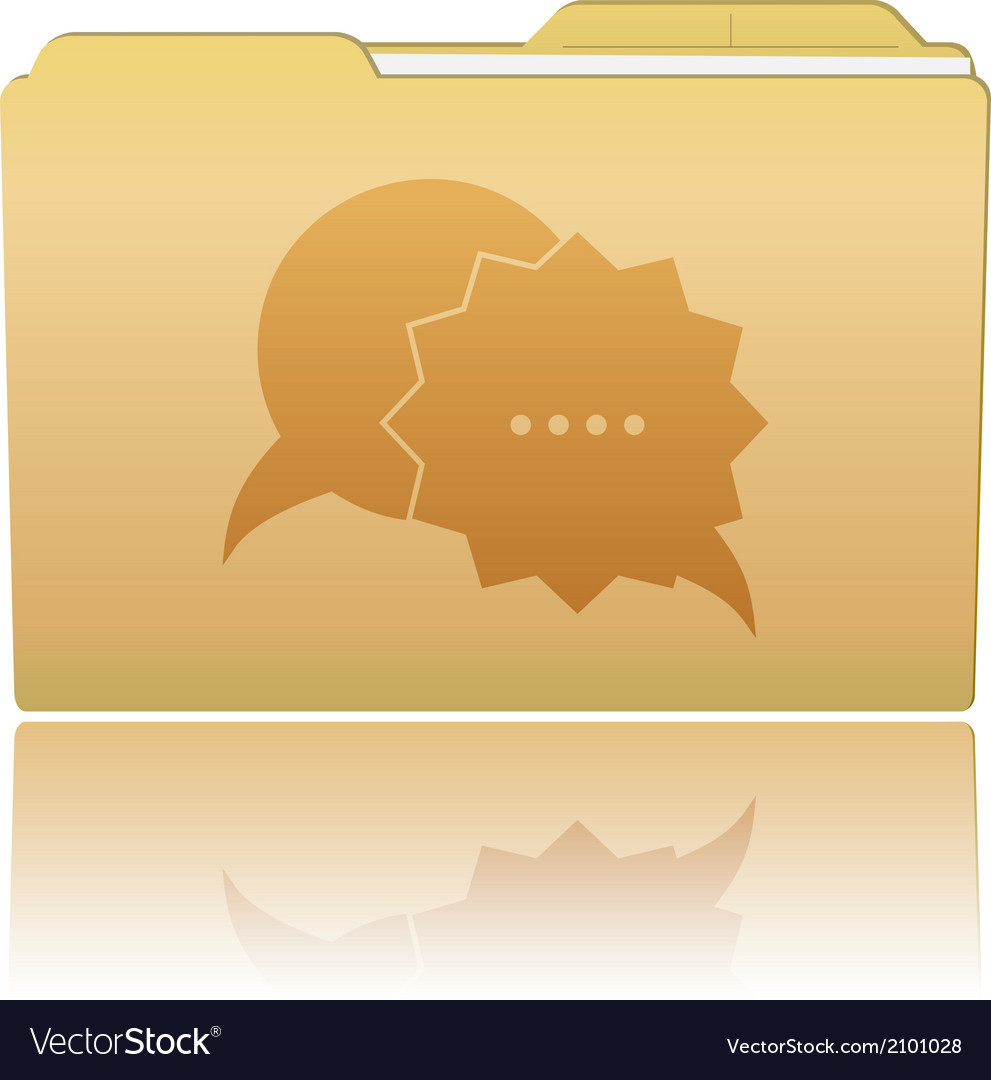 Folder with speech bubbles vector | Price: 1 Credit (USD $1)