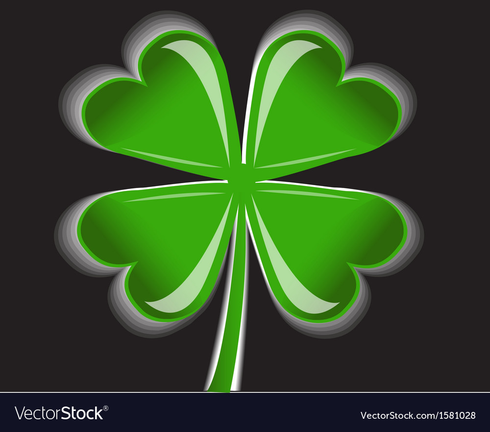 Four-leaf clover vector | Price: 1 Credit (USD $1)