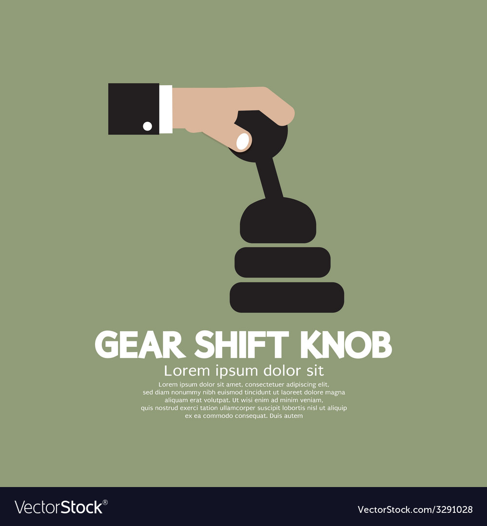 Gear shift knob vector | Price: 1 Credit (USD $1)