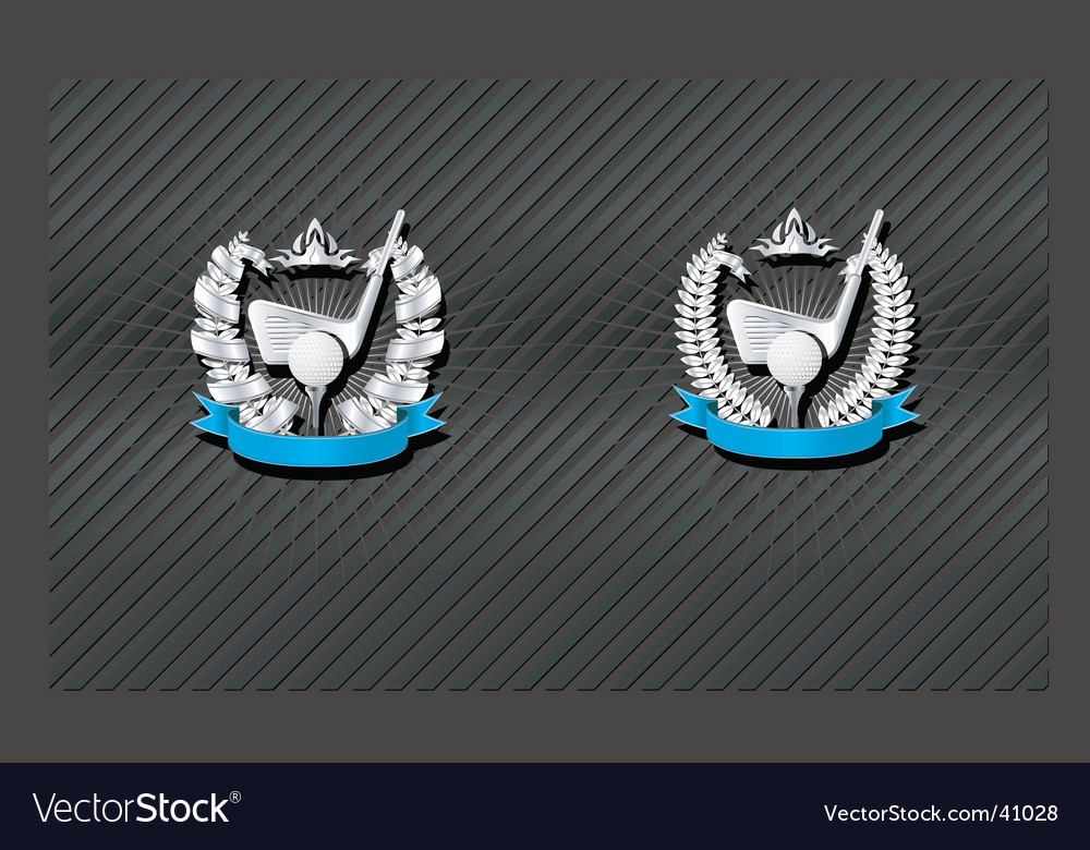 Golf emblem vector | Price: 1 Credit (USD $1)