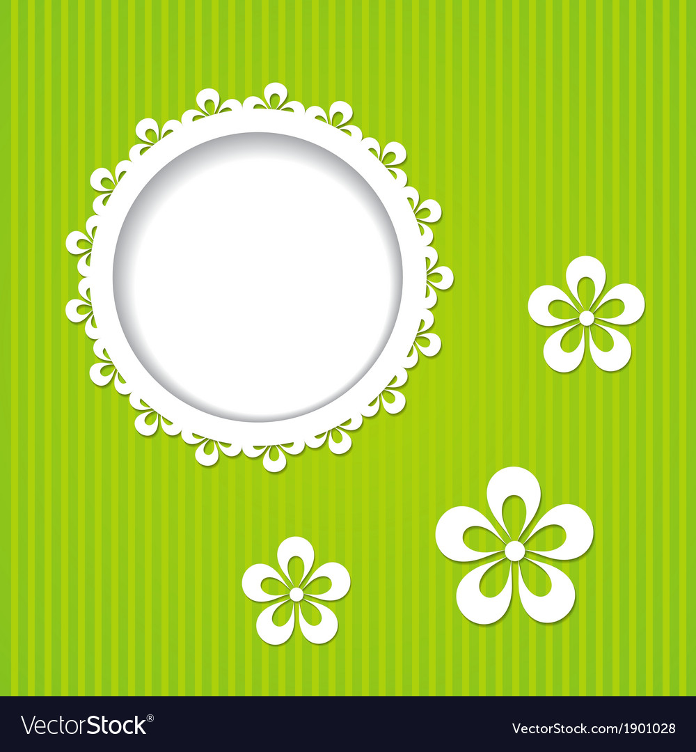Green frame and flowers vector | Price: 1 Credit (USD $1)