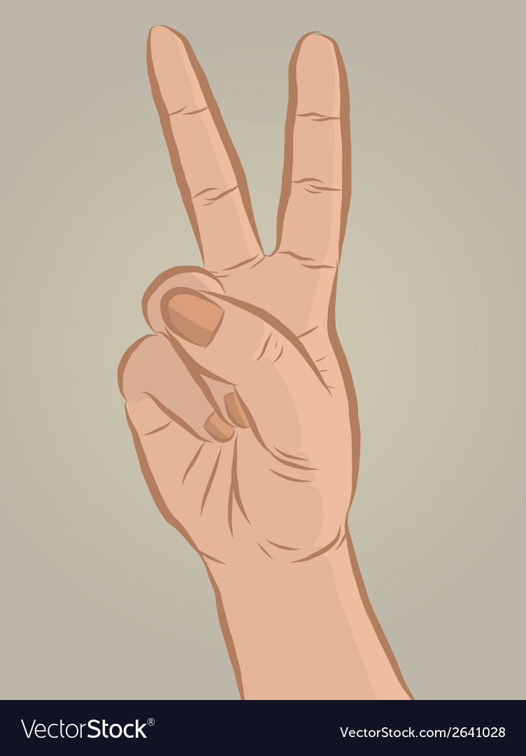 Handsign2 vector | Price: 1 Credit (USD $1)
