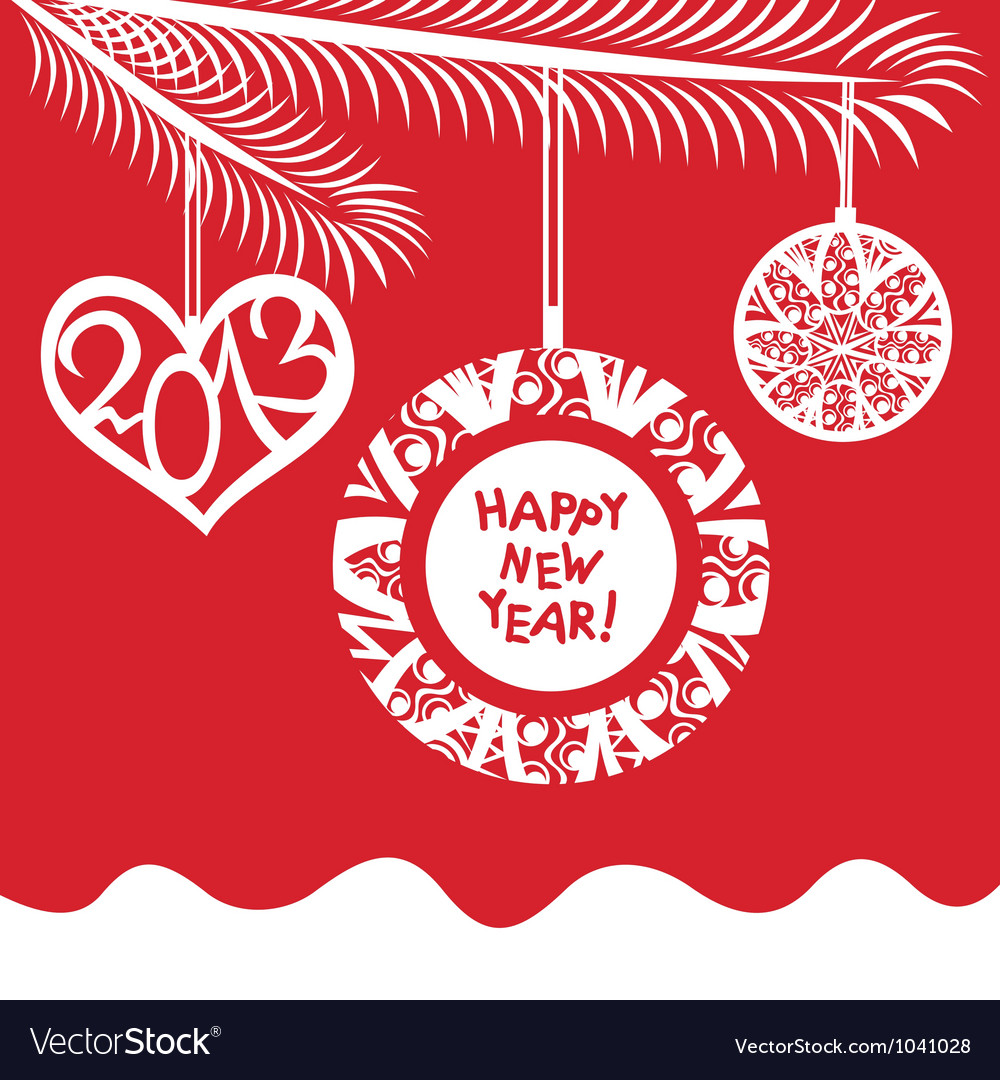 Happy new year 2013 background vector | Price: 1 Credit (USD $1)