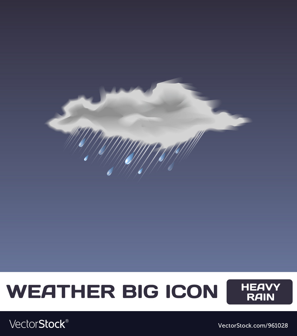Heavy rain icon vector | Price: 1 Credit (USD $1)