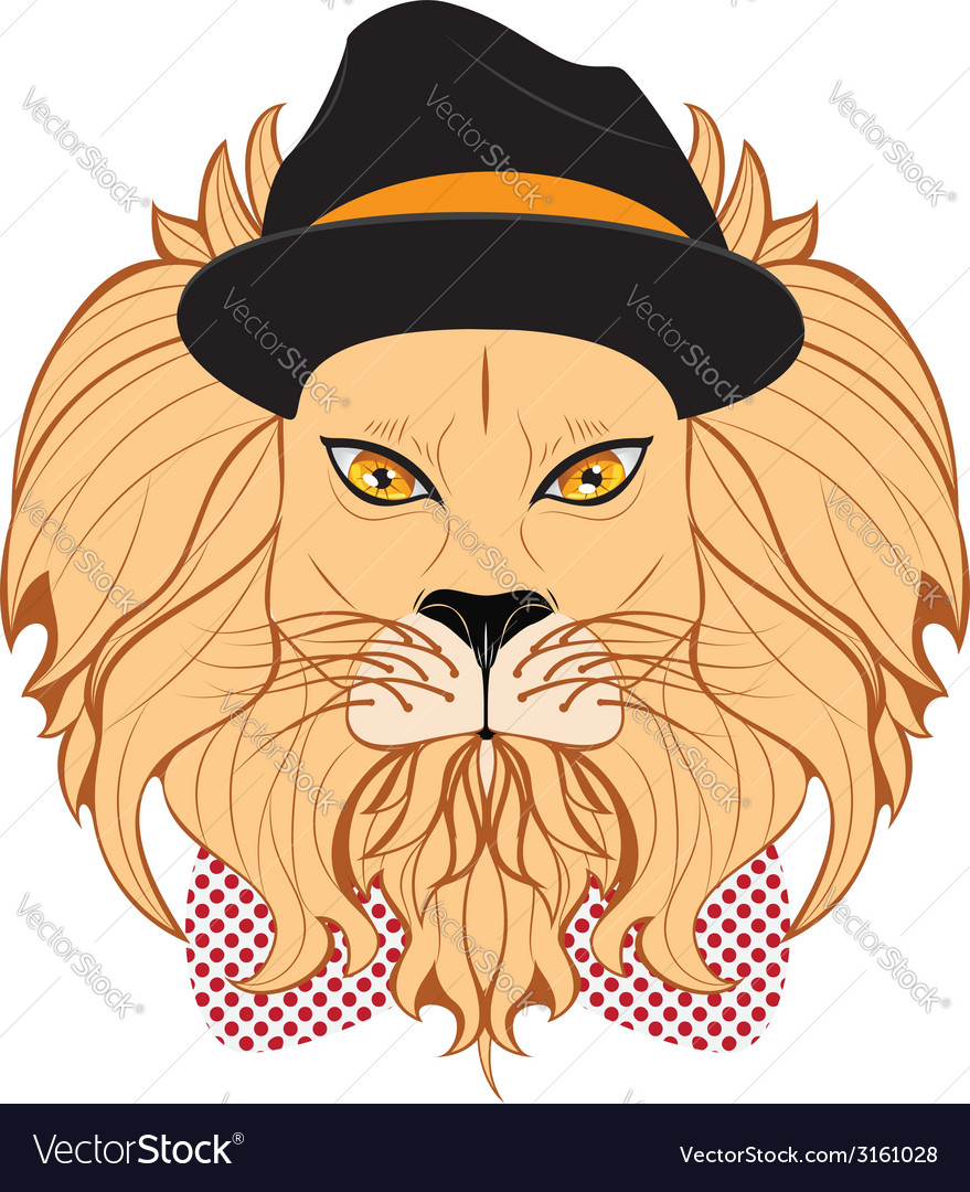Lion hipster2 vector | Price: 1 Credit (USD $1)