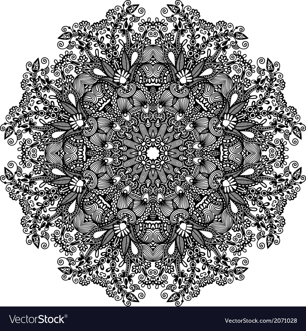Ornament round ornamental geometric doily pattern vector | Price: 1 Credit (USD $1)