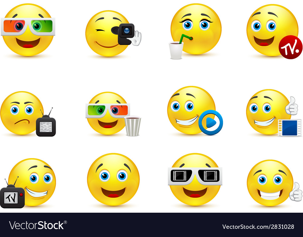 Smiley images with elements of the entertainment vector | Price: 1 Credit (USD $1)