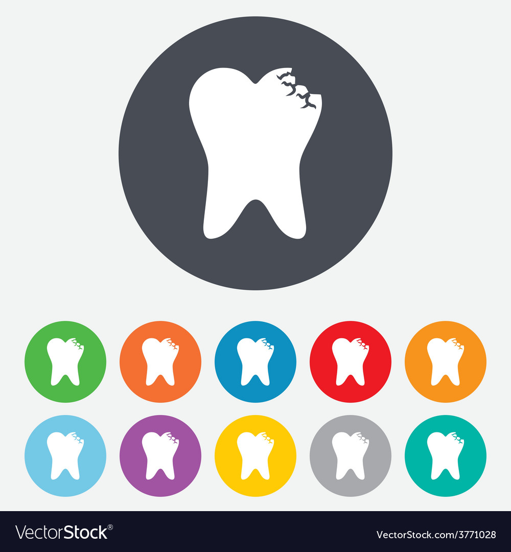 Tooth crystal sign icon dental prestige symbol vector | Price: 1 Credit (USD $1)