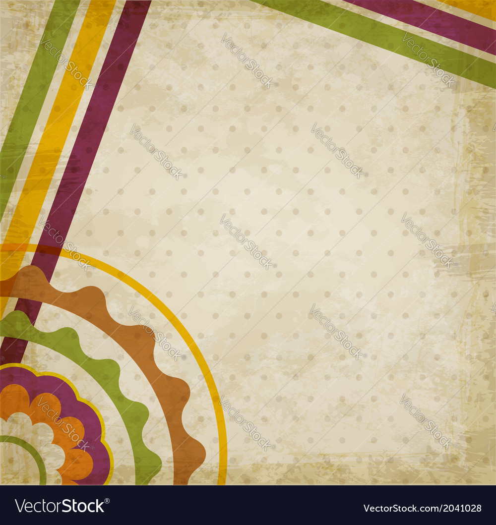 Vintage abstract background vector