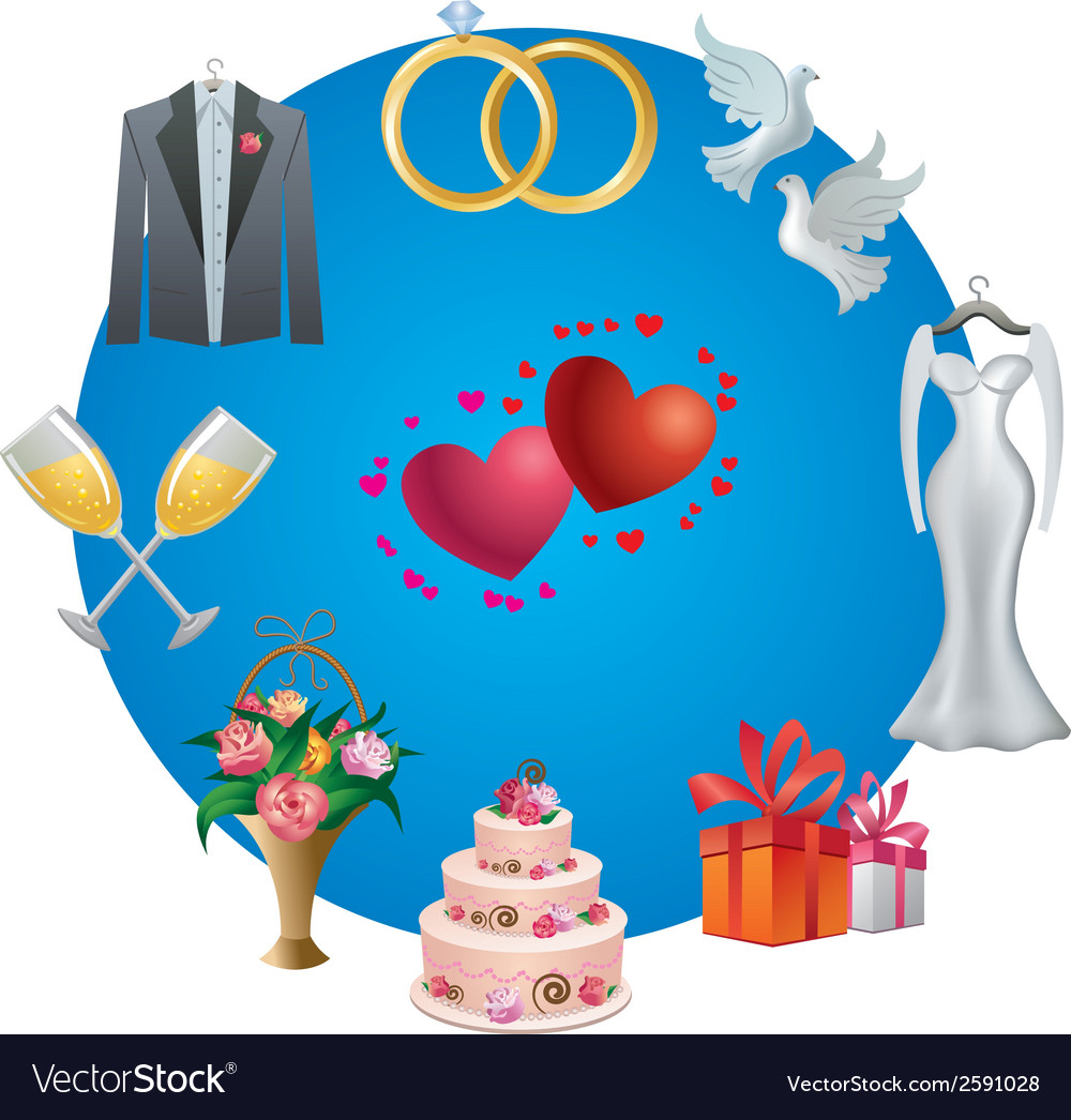Wedding icon vector | Price: 1 Credit (USD $1)