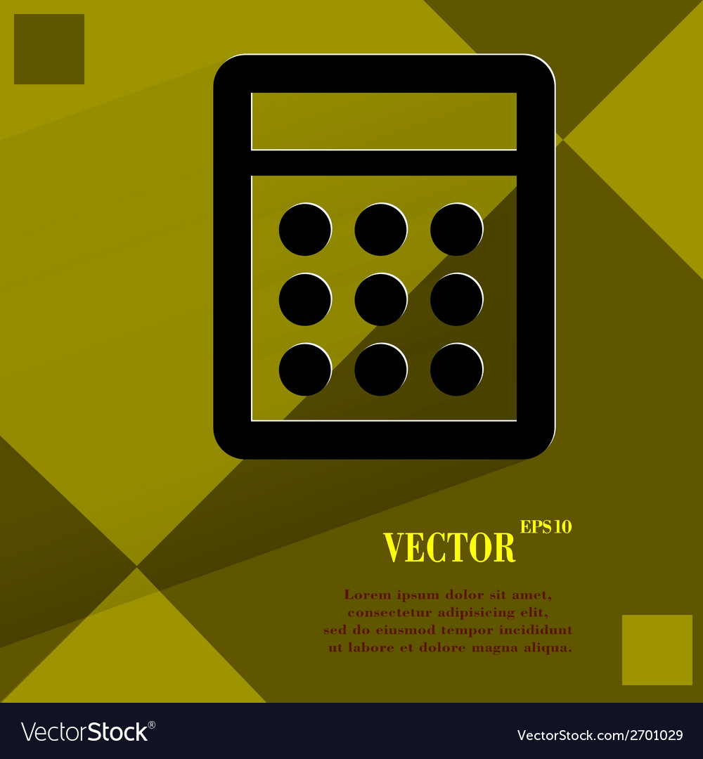 Calculator flat modern web design on a flat vector | Price: 1 Credit (USD $1)