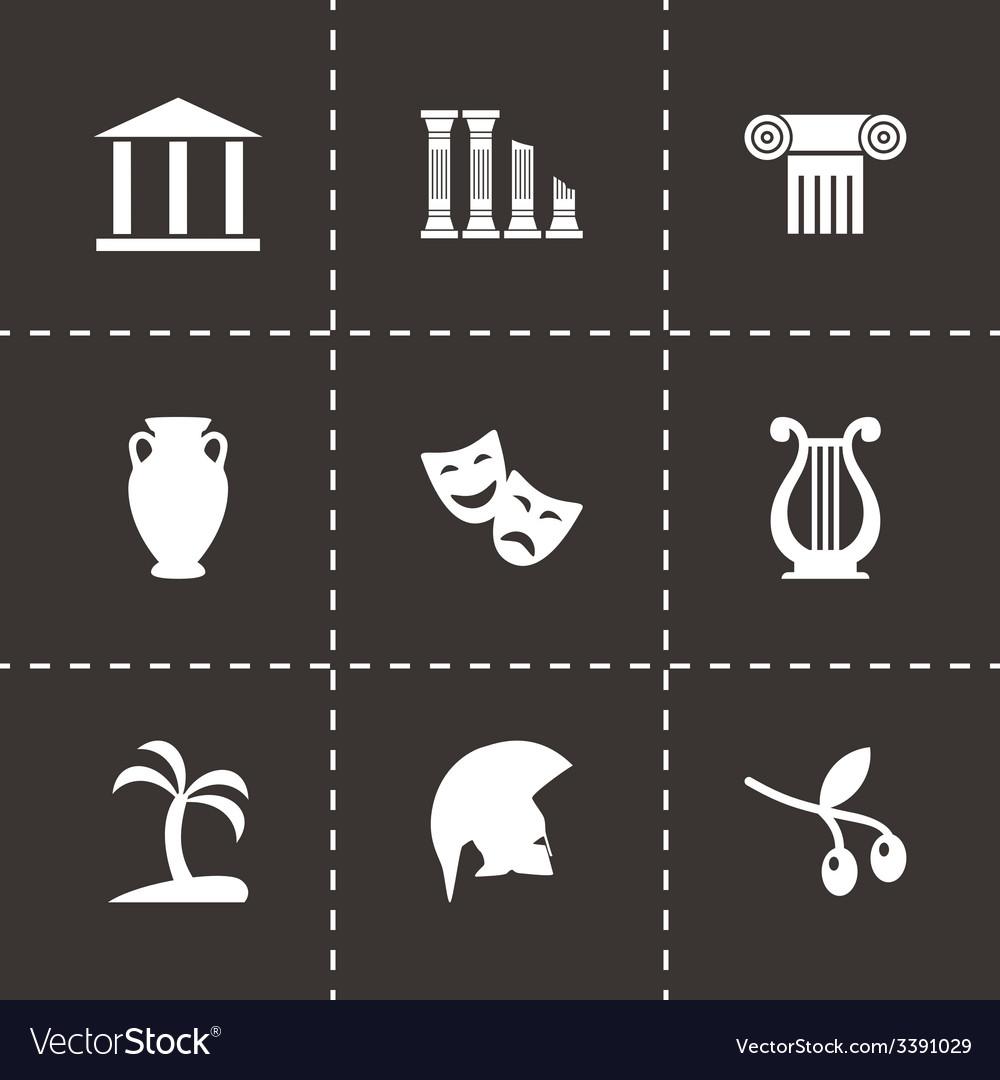 Greece icon set vector | Price: 1 Credit (USD $1)